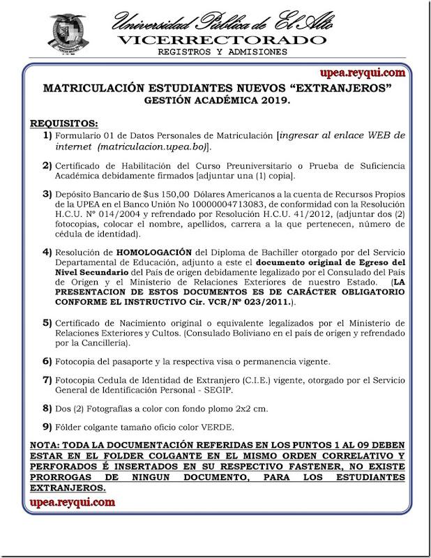 matriculacion-estudiantes-nuevos-extranjeros-la-upea-2019-reyqui