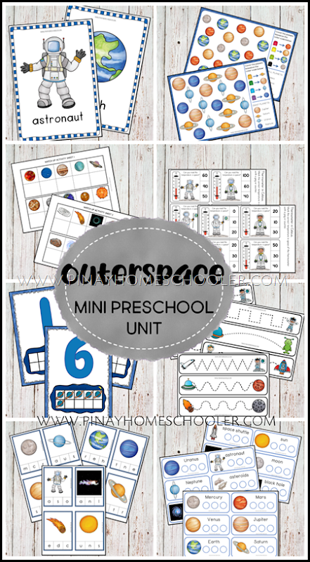 Solar System and Space Preschool Mini Unit