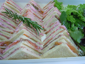 Photo: club sandwiches tarama et saumon fumé