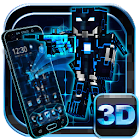 3Dネオンピクセルロボットの戦争テーマ icon
