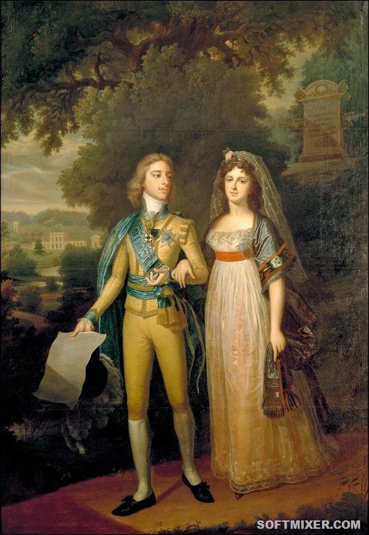 Король Густав IV Адольф и королева Фредерика