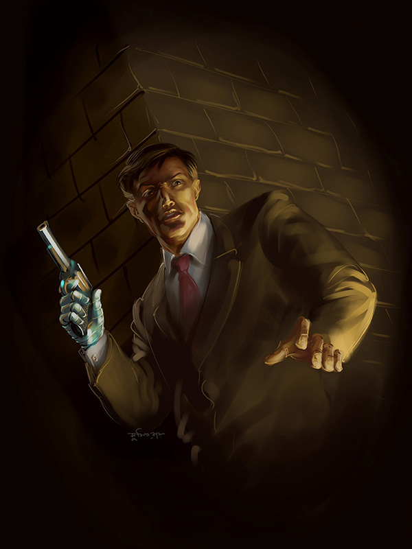 narayan debnath detective koushik roy digital painting chapter cover by sumit roy