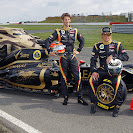 Romain Grosjean and Kimi Raikonnen doing promotion