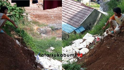 Tebing Curam Ancam Warga Cibadak Sukabumi