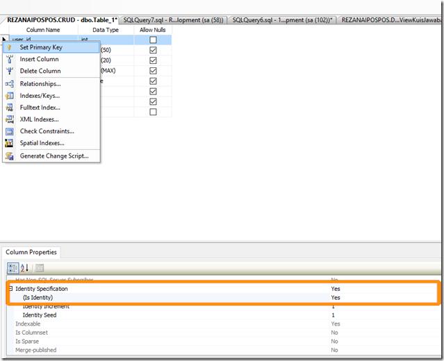 Database & Model Primary Key