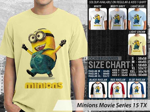 Kaos Kartun Minions Movie Series 15 distro ocean seven