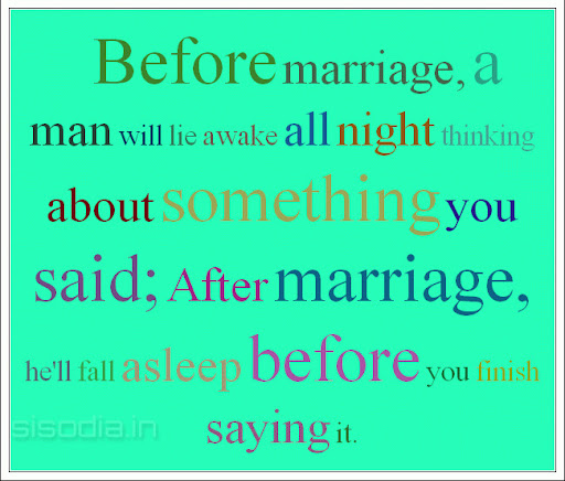 Think Before You Say Something Quotes: Quotes Find: Before Marriage, A Man Will Lie Awake All