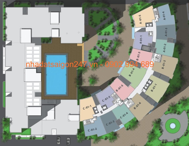 Căn hộ Him Lam Riverside - Him Lam Riverside quận 7 - Sơ đồ vị trí căn hộ