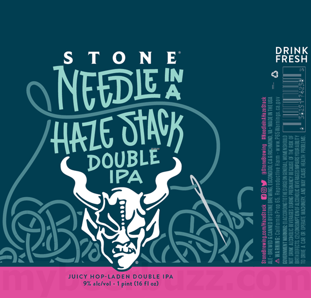 Stone Adding NEW Needle In A Haze Stack DIPA 16oz Cans