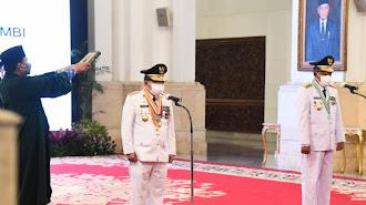 Presiden Jokowi Telah Resmi Melantik Gubernur dan Wakil Gubernur Jambi Masa Jabatan 2021-2024