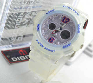 Harga jam tangan Digitec 2096 ladies white ruber