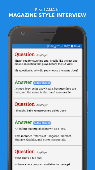 Joey for Reddit screenshot for Android