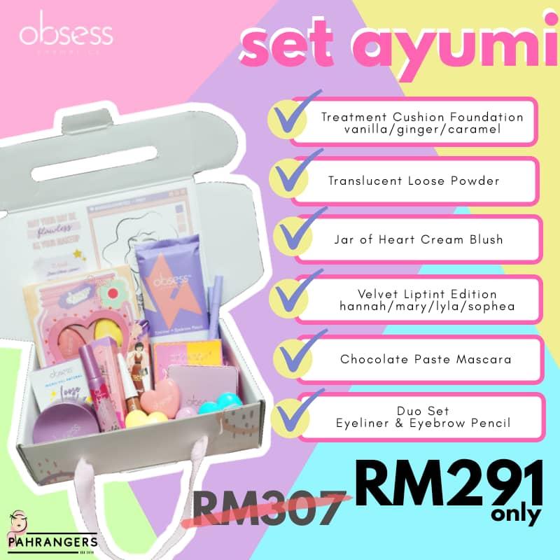 obsess makeup set, Set Ayumi