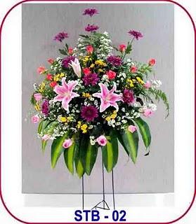 pembuatan karangan bunga untuk Ucapan Selamat, Turut Berduka Cita