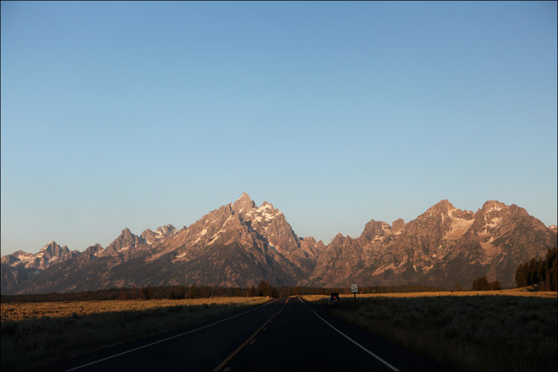 Teton Park Road in the morning