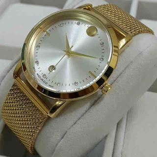 jam tangan Movado tgl rantai pasir Gold