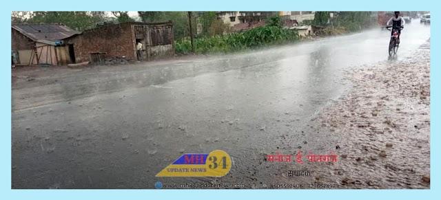 जिल्ह्यात काही ठिकाणी मुसळधार पाऊस