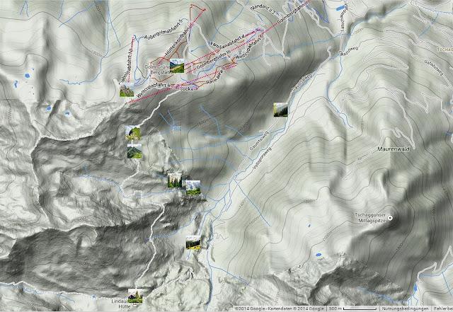 Wanderkarte Montafon Golmer Höhenweg
