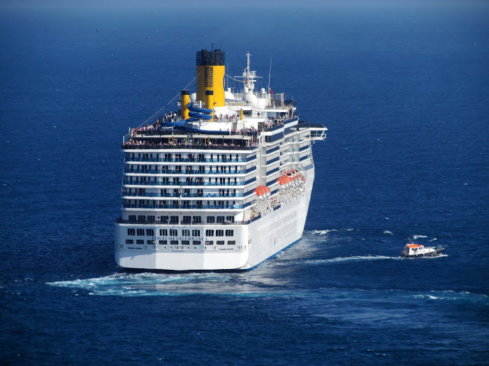 Costa left Funchal city
