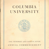 1939 Columbia University Commencement