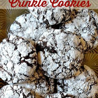Perfect Chocolate Crinkle Cookies.