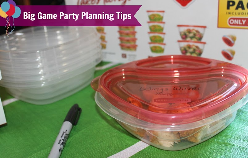 Big Game Party Planning Tips #RubbermaidSharpie #PMedia