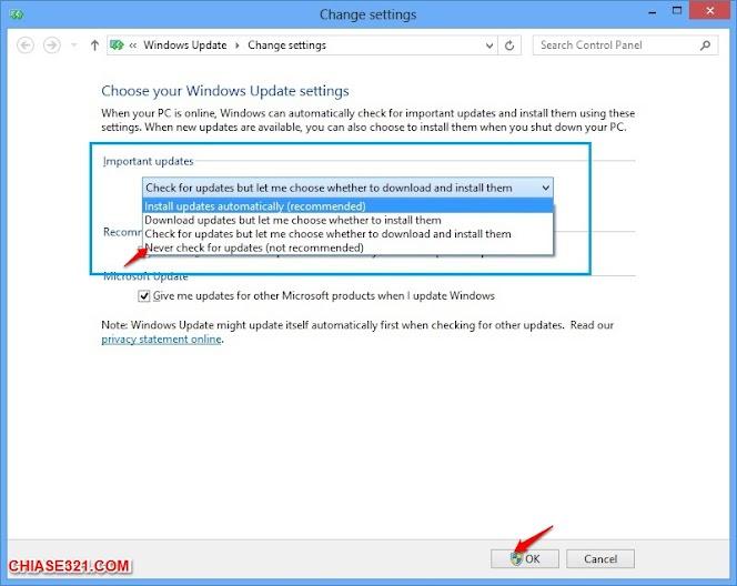 cách tắt Windows Update trên Win 10