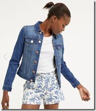 Oasis Embroidered back denim jacket