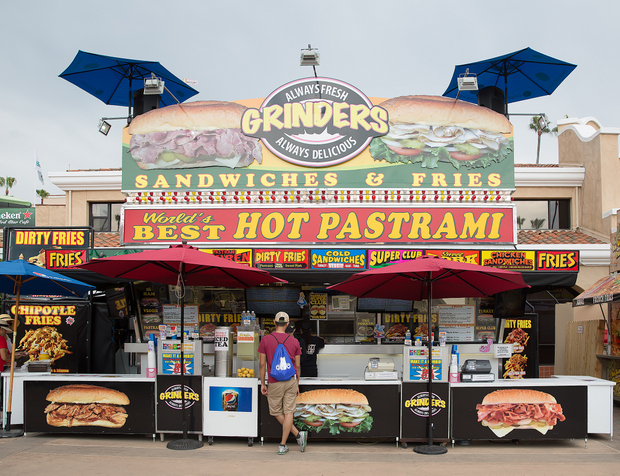 photo of the Grinder's booth
