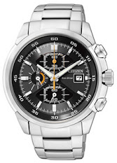 Jam Tangan Pria Tali Stainless Elegance  Citizen Eco-drive : AU1077-83H
