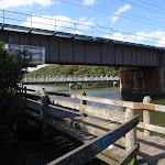 the salt pan creek boardwalk crossing under the railway bridge (77488)