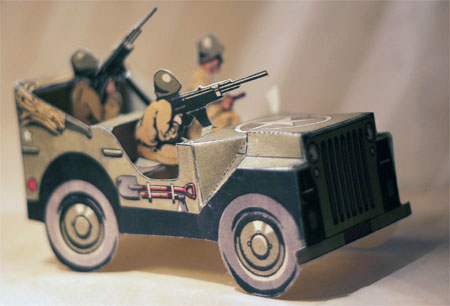Vintage Willys MB US Army Jeep Papercraft