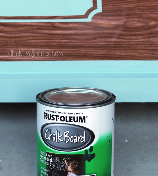 Stenciling label with chalkboard paint