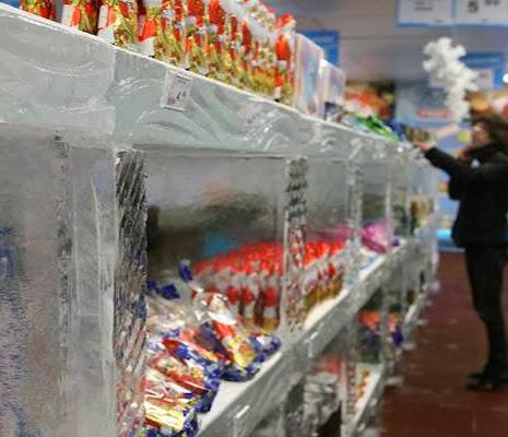 supermercado hecho de Hielo