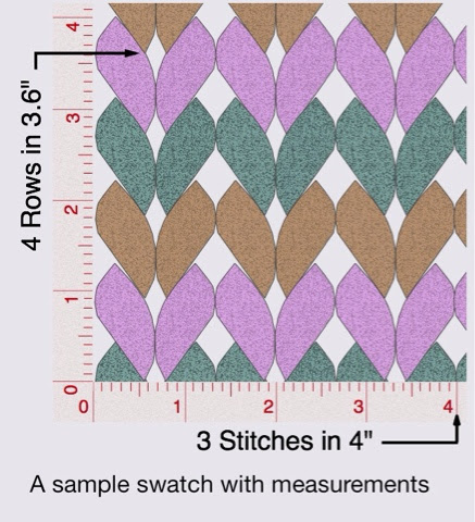 Knitting Stitches To Inches Calculator : GoodKnit Kisses: Swatch and Cast-On Calculator