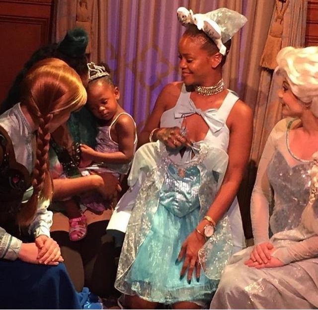Rihanna wears Rosie Assoulin Bow Top at Disney Land