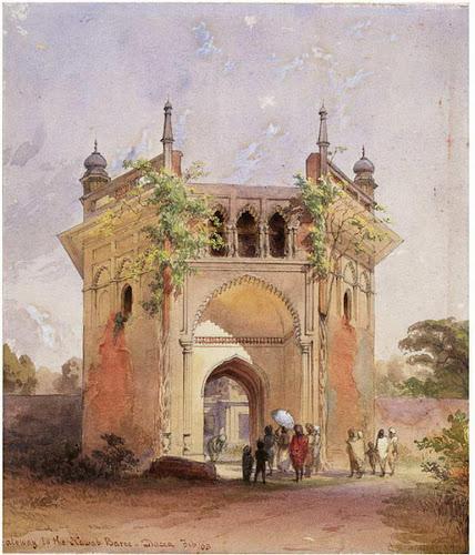 Nimtoli Deuri - ruined gateway at Dhaka by William Alexander in1863