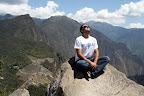 Joshua Sunbathing at The Summit of Huayna Picchu (Machu Picchu, Peru)