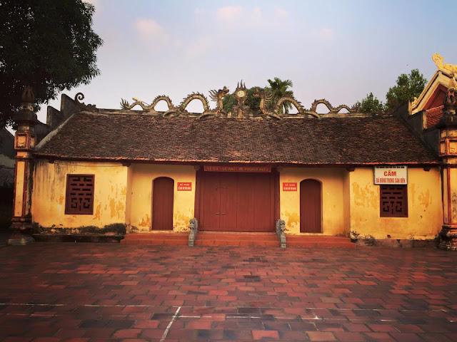 Đền thờ Đô Thống Lê Phụng Hiểu thuộc khu Hòa Đình, phường Võ Cường, thành phố Bắc Ninh