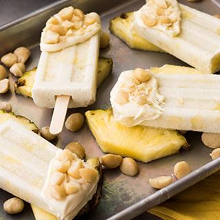 Coconut Pineapple Macadamia Popsicles