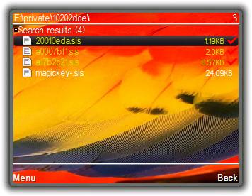 Screenshot Hilangkan Menyiapkan Pemasangan Pada S60v3