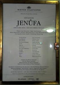 Jenufa Playbill
