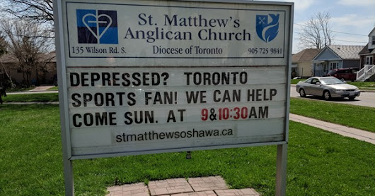 Depressed Leafs fans invited to church
