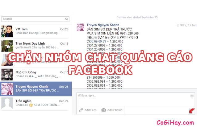 Thoát và chặn người lạ thêm bạn vào nhóm chat Facebook