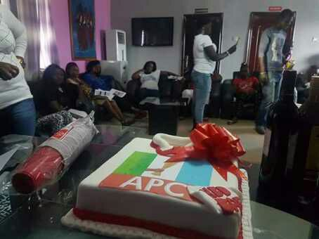 Customized APC Cake A Core APC Supporter In Delta Celebrated His Birthday With