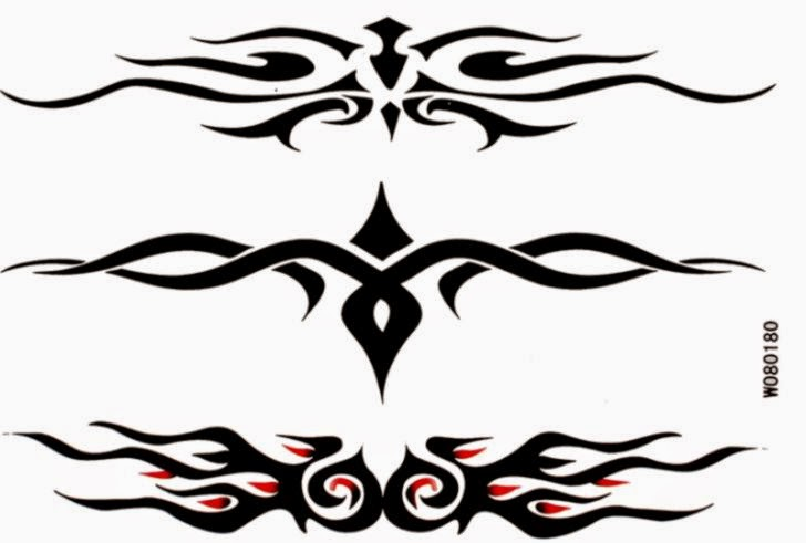 Cool and fashion Waterproof tattoo sticker black totem W080180