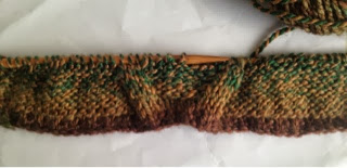 knitting swatch for Ruana pattern