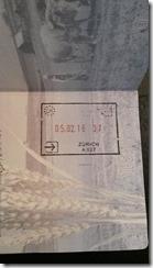 Swiss passport stamp