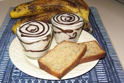 Mousse à la banane et chocolat croquant