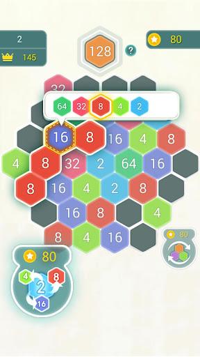 HexPop:Make number to 2048,Free Merge Puzzleu00a0Games apktram screenshots 4
